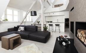 Picture design, room, interior, attic