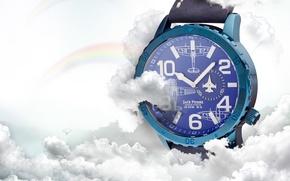 Picture blue, plane, Watch, Jack Pierre