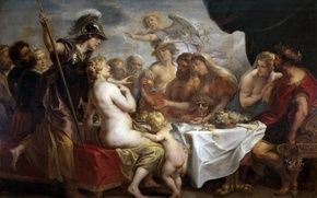 Picture picture, mythology, Jacob Jordaens, The wedding of Thetis and Peleus