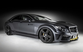 Picture Mercedes, black, benz, Tuning, prior design, c218, cls, edition, class, pd550