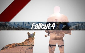 Picture the game, people, satellite, dog, fallout, Heath, gait, vault 101, fallout 4