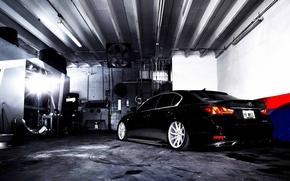 Picture Lexus, wheels, black, rear, vossen, GS 350