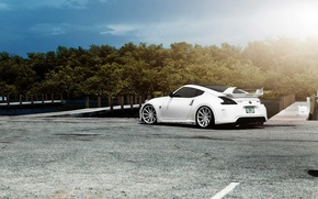Picture car, tuning, white, Nissan, tuning, rechange, Nissan 370Z