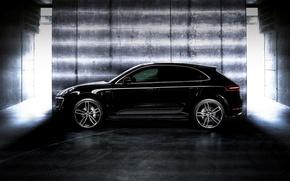 Picture car, porsche, black, tuning, techart, macan