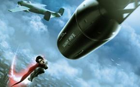 Picture Girls, Aircraft, Cloak, Fiction, Soviet-Superwoman