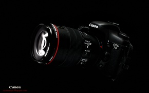 Picture Wallpaper, the camera, black background, Canon, EF 100mm F2.8L macro Hybrid IS, EOS 7D