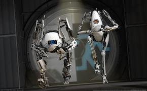 Picture Robots, CG Wallpapers, Robots, Valve, Portal 2