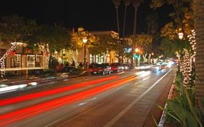 Picture city, the city, USA, Christmas, California, Santa Barbara