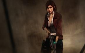 Picture girl, the gun, capcom, Claire Redfield, Resident Evil: Revelations 2