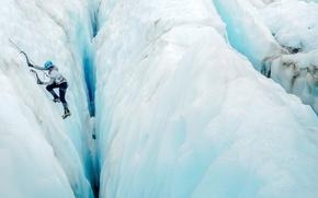Wallpaper mountain, sport, ice