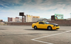 Picture auto, yellow, the city, mustang, Mustang, ford, shelby, Ford, Shelby, gt500, rechange, avto