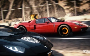 Picture Ford, Lamborghini, Need for Speed, nfs, LP700-4, Aventador, 2013, Rivals, NFSR, NSF