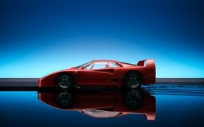 Wallpaper reflection, Ferrari, F40