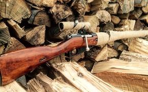 Picture rifle, sniper, Mosin, M91/30, store