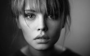 Picture girl, photo, model, black and white, beautiful, Anastasia Shcheglova