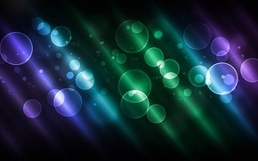 Picture circles, color, glow