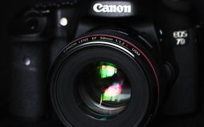 Picture the camera, lens, 2 L, Canon EOS 7D, EF 50mm f/1