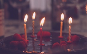 Picture holiday, candles, cake