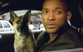 Picture Will Smith, Sam, I Am Legend, Will Smith, Abby, Abby, Robert Neville, I am legend