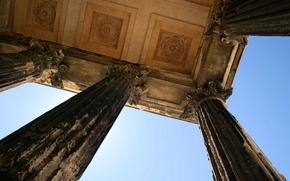 Picture France, architecture, column, Languedoc-Roussillon, Gar, Maison Carrée, Roman temple, It