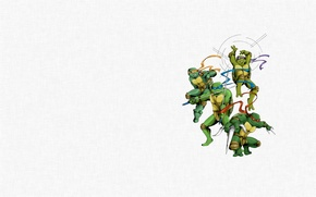 Picture minimalism, Teenage mutant ninja turtles, Raphael, Leonardo, Donatello, Teenage Mutant Ninja Turtles, Michelangelo, mutant ninja …