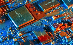 Picture electronics, electronic components, microprocessor, electrical circuit