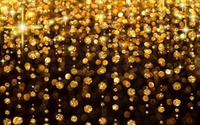 Picture light, decoration, stones, background, gold, rain, holiday, Shine, glow, flickering