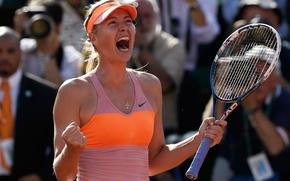 Picture victory, Maria Sharapova, the final, champion, Roland Garros 2014