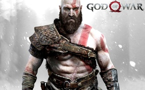 Picture game, fighter, armor, blizzard, Kratos, God of War, snow, survivor, Spartan, blade, knife, warrior, hunter, …