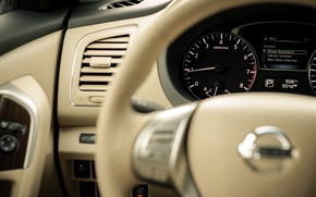 Picture machine, auto, letters, grey, Wallpaper, black, leather, devices, tachometer, arrow, the door, the wheel, button, …