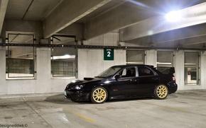 Picture Subaru, Impreza, black, black, STI, Subaru, Impreza