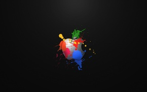 Picture Apple, Background, Paint