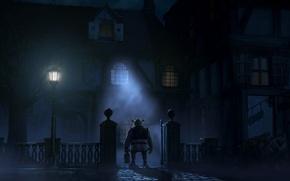 Picture light, house, fence, window, lantern, portfolio, Shrek, the exorcist