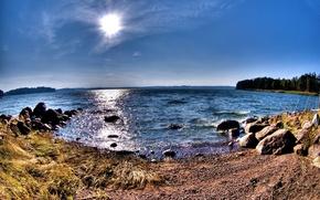 Wallpaper water, lake, Shore, panorama