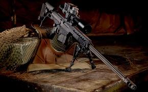 Wallpaper optics, trunk, rifle