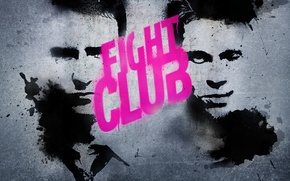 Picture Edward Norton, Brad Pitt, Fight club. Fight Club