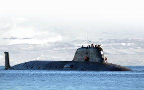 Picture sea, the sky, Russia, hike, submarine, project 955