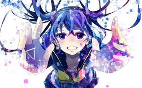 Picture girl, art, vocaloid, hatsune miku, school uniform, Vocaloid