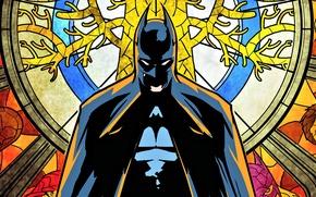 Picture the film, Batman, hero, stained glass, Batman, comics, the dark knight, hero, bruce wayne, Bruce …