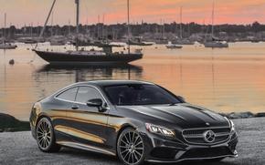 Picture shore, Mercedes-Benz, pier, Mercedes, AMG, AMG, 2014, S 550, S-Class, C217