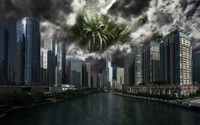 Picture city, the city, Cthulhu, ktulhu