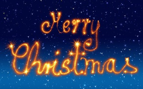 Picture winter, the sky, orange, blue, lights, style, lights, letters, background, holiday, blue, graphics, Shine, new …