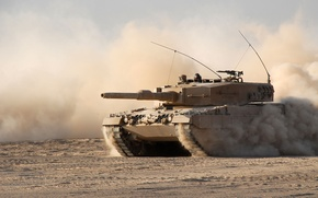 Picture sand, dust, tank, combat, armor, Leopard 2 A4