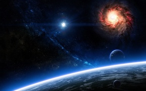 Wallpaper space, planets, sci fi, cosmos, galaxies
