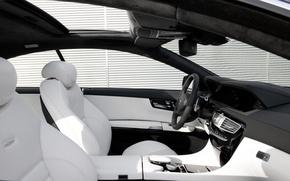 Picture white, AMG, mercedes benz, salon