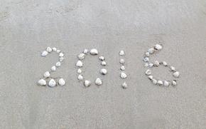 Picture sand, beach, stones, New Year, beach, sand, 2016