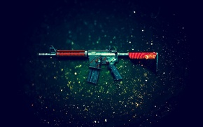 Picture Counter-Strike: Global Offensive, CS:GO, Bullet Rain, the rain of bullets, M4A4