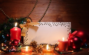 Picture balls, candles, tape, stars, twilight, garland, tinsel, bow, bumps, card, Christmas decorations