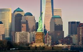 Picture skyscraper, home, New York, USA, Manhattan, the statue of Liberty