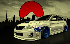 Wallpaper STI, WRX, Subaru, Impreza, Drift Spec Vector, by Edcgraphic, Subaru, Impreza